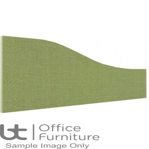 Innovate Venice Fabric Desk Mounted Wave Screen 380-180mm High - Non Linking