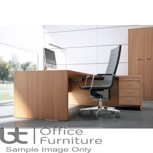 Edge Executive Rectangular Desk And Right Hand 3D Return  Unit - 1.8 and 2m Options