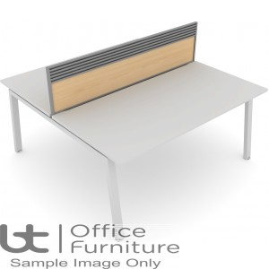 Elite Linnea System Screen - MFC Screen with Management Rail For Double Desk