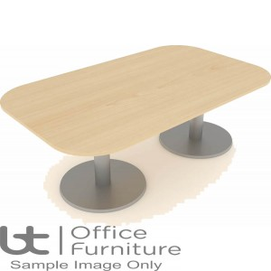 Elite Optima Plus Table - Double D Ended 1200mm Diameter Base Table Seats Up To 8 People