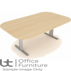 Elite Optima Plus Table - Double D Ended I Frame Conference Table Seats Up To 8 People 2000mm Wide