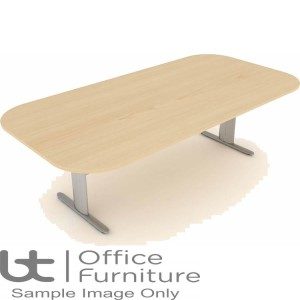Elite Optima Plus Table - Double D Ended I Frame Conference Table Seats Up To 8 People 2400mm Wide