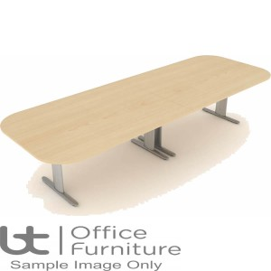 Elite Optima Plus Table - Double D Ended 'I' Frame Conference Table Seats Up To 10 People