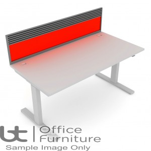 Elite Progress Screen - Acrylic System Screen  with Management Rail For Single Desk