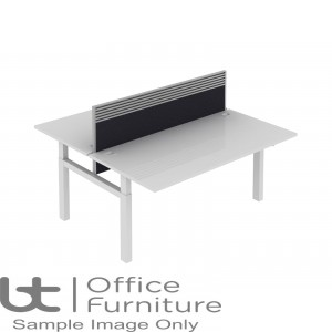 Elite Progress Lite Fabric System Screen With Management Rail For Double Bench Desk