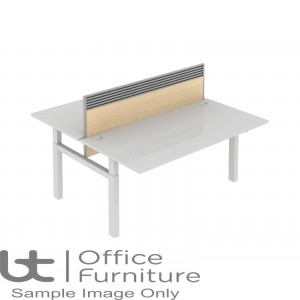 Elite Progress Lite MFC System Screen With Management Rail For Double Bench Desk