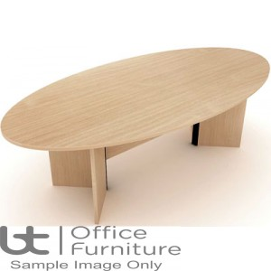 Elite Windsor Table - Oval Conference Table Seats 8 People