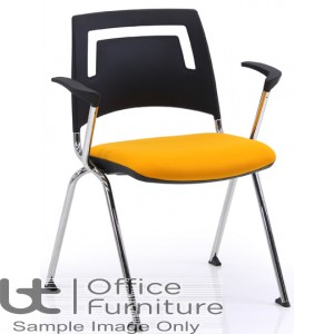 Verco Visitor Seating - Fly Plastic Back Stacking Chair with Arms