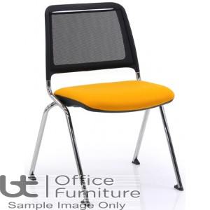 Verco Visitor Seating - Fly Mesh Back Stacking Chair