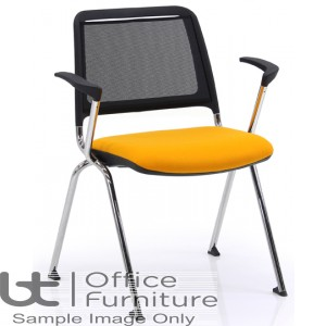 Verco Visitor Seating - Fly Mesh Back Stacking Chair with Arms