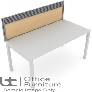 Elite Matrix Screen - MFC (Height Settable) System Screen with Management Rail For Single Desk