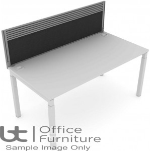 Elite Matrix Screen - Fabric (Height Settable) System Screen With Management Rail For Single Desk