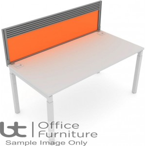 Elite Matrix Screen - Acrylic (Height Settable) System Screen with Management Rail For Single Desk