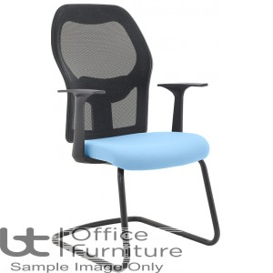 Verco Operator/Task Chair  - Mesh Medium Back Visitors Chair with Arms