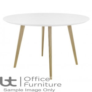 Elite Modular Meeting Circular Table with Square Wooden Legs
