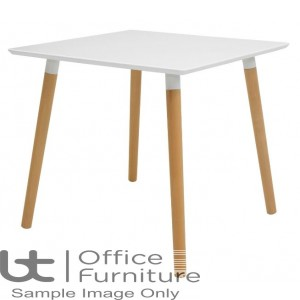 Elite Modular Meeting Square Table with round Wooden Legs