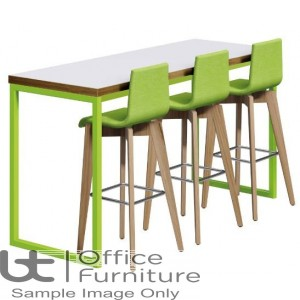 Urban 40/40 Robust 25mm Laminate Top School Bench Dining Poseur Table W1200mm (Premium Frame Colours)