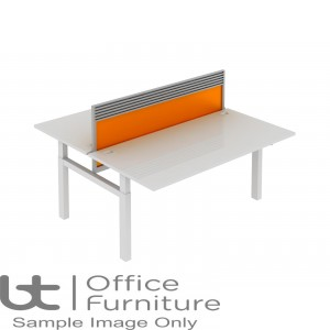 Elite Progress Lite Acrylic System Screen With Management Rail For Double Bench Desk