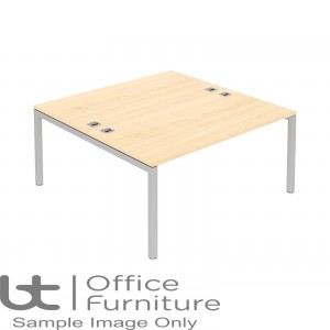 Elite Matrix Desk - Fixed Height Double Bench Desk with 1400mm Deep Ends