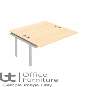 Elite Matrix Desk - Fixed Height Double Bench Desk With Shared Inset Leg 1400mm Deep Ends