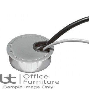 DMC Cable Accessories - Metal 80mm Desk Grommet with Brush Strip