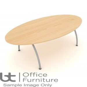 Elite Callisto Table - Oval Meeting Table Seats Up-To 8 People