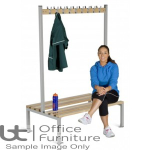 Locker Room (EL) -  Double Sided Island Bench Seating for Changing Room