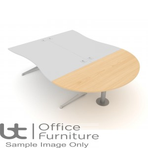Elite Kassini Meeting Extension (2) - Complete with Kassini support leg. Suitable for Double Wave Desking.