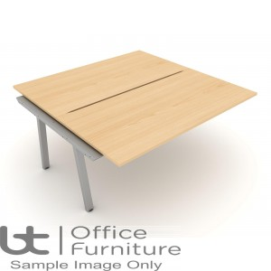 Elite Linnea Desk - 1200mm Double Bench with Shared Inset Leg