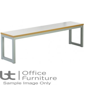 City 40/40 Robust 40mm Laminate Top School Bench Seat W2100mm (Std Frame Colours)