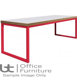 City 40/40 Robust 40mm Laminate Top School Bench Dining Table W1800mm (Premium Frame Colours)