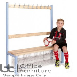 Locker Room (EL) -  Single Sided Island Bench Seating with 8 & 10 Compartments for Changing Room