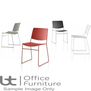 Verco Visitor / Conference Seating - Stax60 Medium Back Plastic Stacking Chair