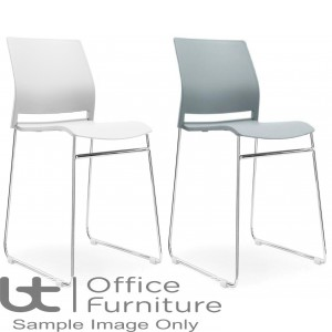 Aurora Seating - Plain Shell Stool in Grey or White
