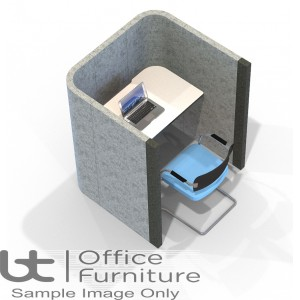 Acoustic Learning - Study Booth Including Desk (3 Height Options)